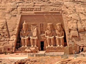 Abul-Simbel The Rock temple structure dedicated to Ramses 11